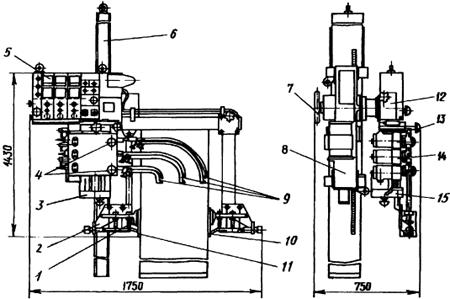 Автомат для электрошлаковой сварки АШ112