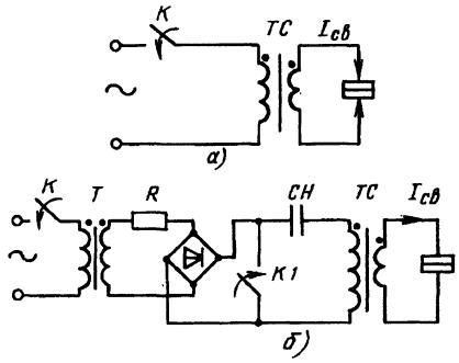 Схемы однофазных контактных машин