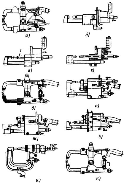 Сварочные клещи подвесных машин серии МТП