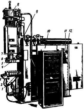 Рельефная машина низкочастотной  контактной сварки