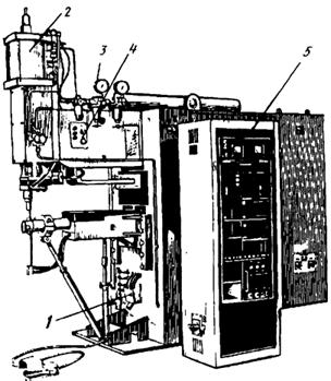 Низкочастотная точечная машина
