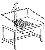 стол с местной вытяжкой