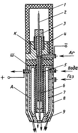 Плазмотрон установки (аппарата) микроплазменной сварки