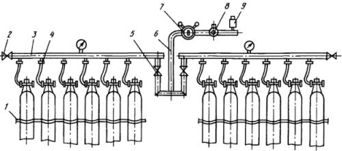 Рампа перепускная ацетиленовая разрядная типа РАР-15