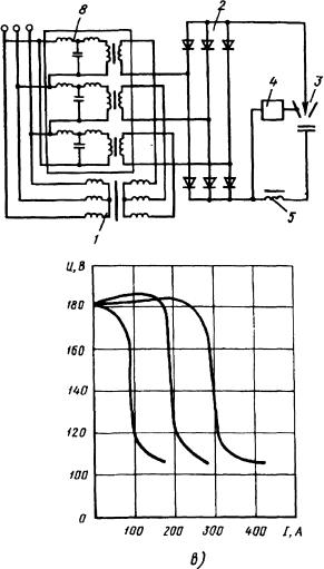 Схема сварочного выпрямителя на индуктивно-емкостных силовых элементах