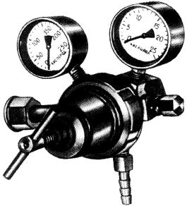 Баллонный двухступенчатый газовый редуктор  ДКД-8-65